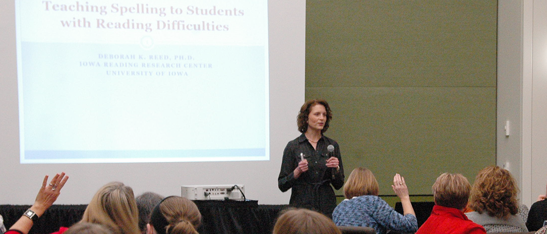 Deborah K. Reed presenting at conference