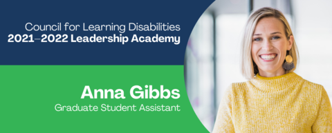 Graphic showing Anna Gibbs selection for leadership academy