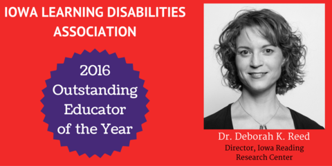 Deborah Reed Outstanding Educator of the Year