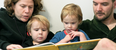 Family reading time