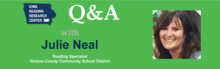 Julie Neal Question and Answer Graphic