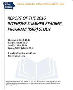 ISRP study report cover